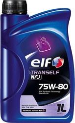 Масло трансмиссионное синтетическое Elf TRANSELF NFJ 75W-80, 1л